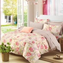 雅鹿全棉四件套纯棉套件床上用品 回忆蓝 1.8米床