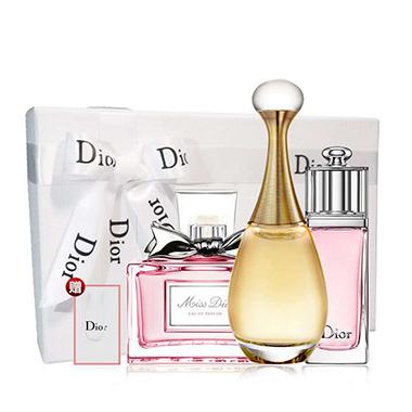 Dior迪奥女士香水豪华礼物套装 礼盒套装*真我*甜心*魅惑各5ML