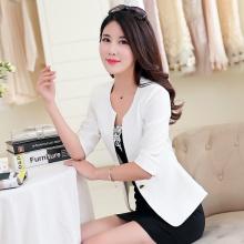 2015夏装韩版修身白色小西装女薄外套
