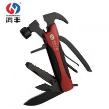 鸿丰GH-1201L全黑不锈钢折叠多功能刀钳安全锤车上安全用品工具