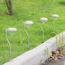 户外防水LED太阳能庭院灯家用地插灯花园钻石灯草坪灯